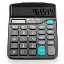 12 Digit Large Screen Calculator Solar Battery Light Powered Office Home Portable Calculator Fashion Computer Financial