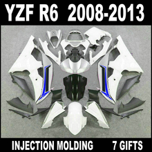Factory outlet for 08 09 10 11 12 13 YAMAHA R6 fairing kit free custom 2008 2009 - 2013 deep gray black white silvery YZF R6