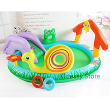 211*155*81cm Cute Baby Inflatable Marine Ball Water Pool Thickening Play Ground Fish Swimming piscinas Pool Garden Play Pool(China)
