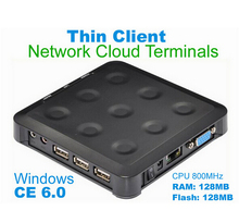 MINI PC  thin client N380 with  Black CE 6.0 Thin Client Flash XP 2000 Server 2003 Windows 7 or 8 Linux supported
