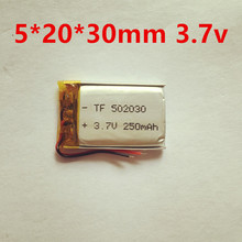1PCS Polymer lithium ion battery 3.7 V, 502030 can be customized wholesale CE FCC ROHS MSDS quality certification