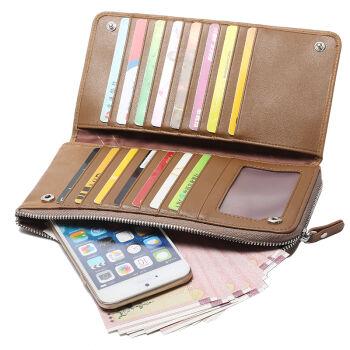 BOPAI Slim Wallet with Slots Multifunctional Genuine Leather Men Wallets Coin Pocket Zipper Mobile Phone Bag Women Wallet Long<br><br>Aliexpress