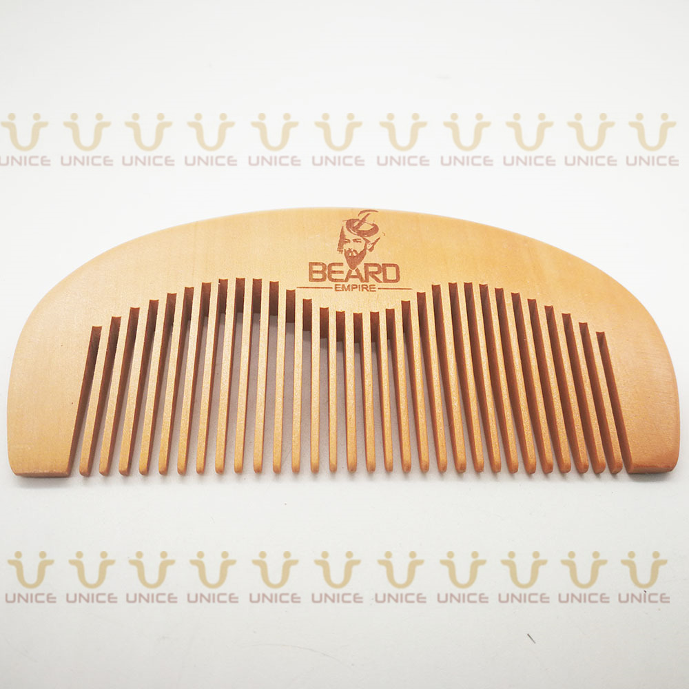 100pcs/lot Your LOGO Customized Private Label Combs Hair Beard Wood Comb for Men & Women for Barber Shop Retail Case 50