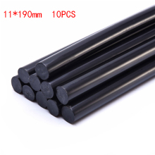10pcs/lot 11mmx190mm Black DIY Hot Melt Glue Sticks For Hot Melt Gun Car Audio Craft General Purpose