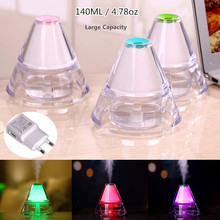 USB Ultrasonic Mini Air Humidifier Mist Maker With Colorful Led Night Light Crystal Acrylic Material Auto Power-Off Protection(China)