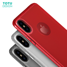 Buy TOTU Bling Shining Case iPhone X 10 Coque Luxury Ultra Thin Slim TPU + PC Back Shell Case Cover iPhoneX Fundas Capinhas for $5.99 in AliExpress store