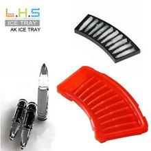 New Brand Plastic Black AK47 Bullet Shaped Freezer Ice Cube Tray lattice Mold Maker Bar Party DIY Ice Cream Tool(China)