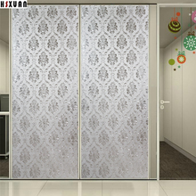decorative window privacy film 92x100cm 3D printing frosted office self Adhesive static window stickers Hsxuan brand 920203