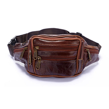 Men Oil Wax Travel Riding Motorcylce Hip Bum Belt Pouch Fanny Pack Waist Purse Clutch Bag Travel Portable Bags(China)
