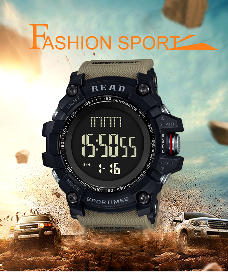 luxury brand READ LED digital wristwatches for men waterproof shock resist military watch free shipping 2018 (2)