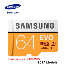 New Product 100% Original SAMSUNG EVO Memory Card Micro SD TF Card 64GB Class10 U1 Read speed up to 100 MB/s (2017 Model)
