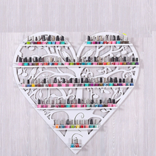 European-style Iron Nail Polish Shelves Cosmetics Wall Display Stand Heart-shaped Shelves Showcase Rack Five Layers