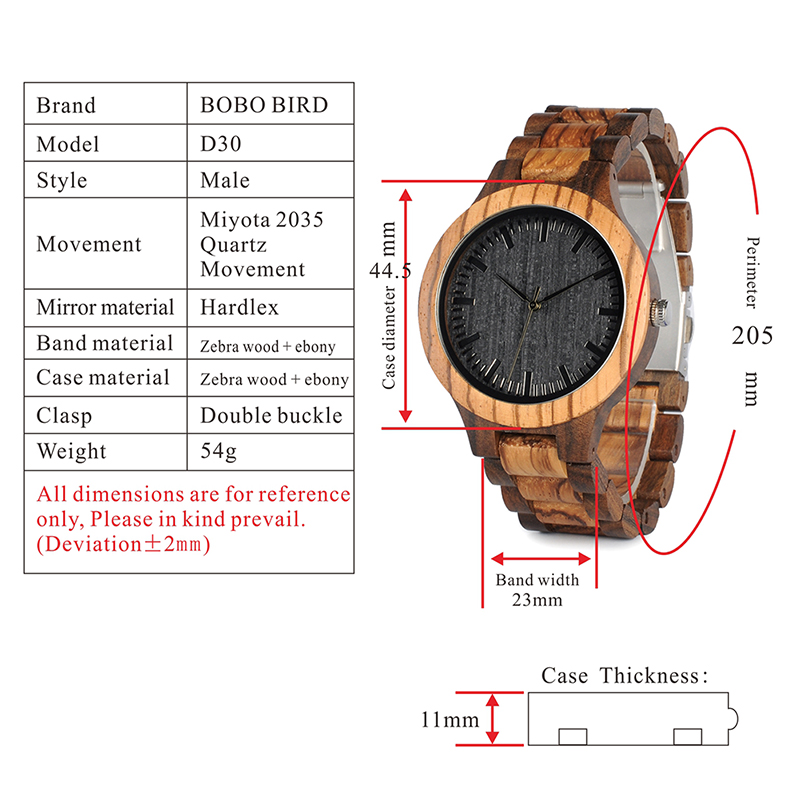 wooden watches for men and women bobo bird new gift watch