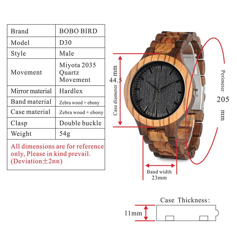 wooden watches for men and women bobo bird new gift watch