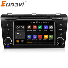 Eunavi Quad Core Android 7.1 System Head Unit Auto Stereo For Old Mazda 3 04-09 Car DVD Player WIFI 3G BT IPOD AUX 1024*600 OBD