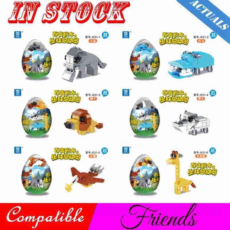Toys & Hobbies Friends Girls Princess Series Houses Animals Emma/Mia Cats Lion Rhinoceros Elephant Building Blocks Brick Kid Toy