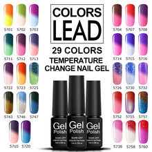 Verntion Chameleon Nail Polish Hybrid Soak off UV LED Gel Nail Polish Temperature Changing Color Gel Lacquer Professional