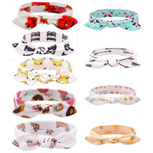 1PC Cute Lovely Kids Flower Hair Band Accessories Headband Bowknot Turban Rabbit Ear Hairband Headwear Nice Gift(China)