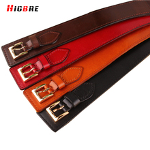 2016 Adult Fashion Casual Double Buckle Belt Leather Women 2016 Bow Belt Elastic Female Wide Belts For Dresses Cinturones Mujer(China)