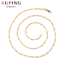 11.11 Xuping Fashion Necklace Popular Style Gold Color Plated Necklace For Women Men Long Necklace Jewelry Cheap Promotion 42517(China)