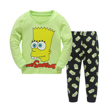 Autumn Spring Boys Pajamas Long Sleeve Cotton Pajamas Sets, Kids Sleepwear Sets Cartoon Children's Pajamas Size 2-7(China)