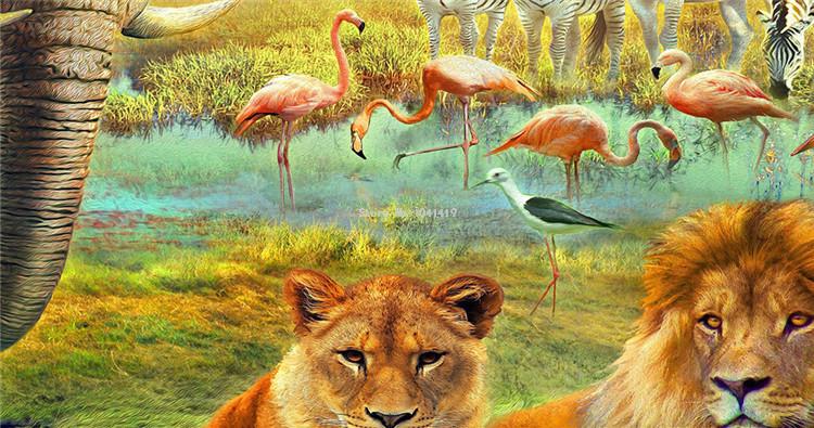 HTB1Rip2SVXXXXXUXpXXq6xXFXXXn - Custom Mural Wallpaper 3D Children Cartoon Animal World Forest Photo Wall Painting Fresco Kids Bedroom Living Room Wallpaper 3 D