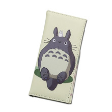 New Arrival Long Cute My Neighbor Totoro One Piece Conan Men Wallets Women Purse Money Photo Pockets Large Capacity Cards Holder(China)