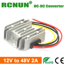New, Waterproof 12V to 48V 2A 96W DC to DC Boost Converter, DC-DC Step Up Car Power Converters Regulators