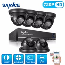 SANNCE 8CH 720P DVR Kit 1080P HDMI CCTV System 6PCS 1200TVL 1.0MP Home Security Cameras Surveillance Kit(China)