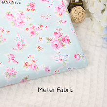 Meter fabric cotton twill sewing cloth rose flower fabrics design textile tecido tissue patchwork bedding fabric(China)