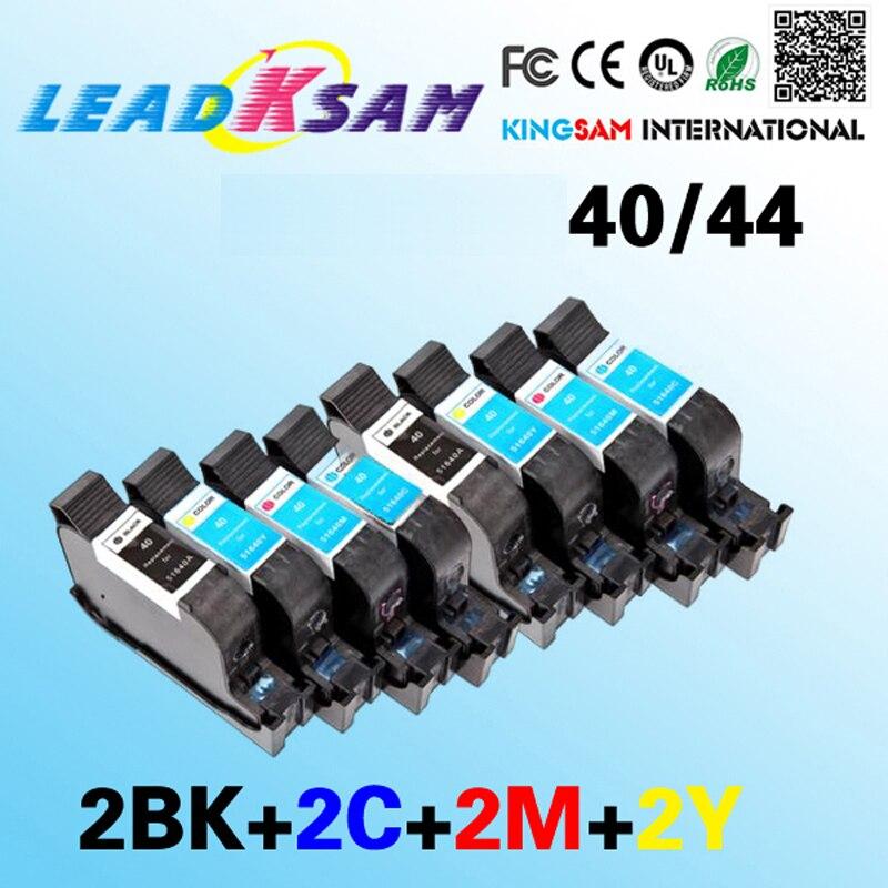 Lot of 4 GENUINE HP 40 /& 44 51640A 51644C 51644Y 51644M Ink Cartridges SET B1-4