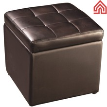 Footstool Storage leather substitute