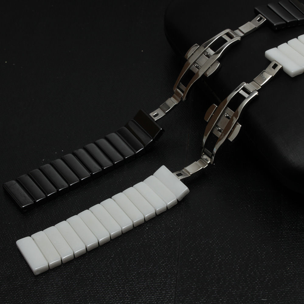 Smart WATCH bracelet 100% Ceramic watchband for sumsang watch S3 S2 wristwatches strap SOLID link watch accessories waterproof<br>