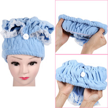 Home Textile Microfiber Womens Lady's Magic Turban Quick Dry Bath Hair Drying Towel Head Wrap Hat Makeup Cosmetics Cap