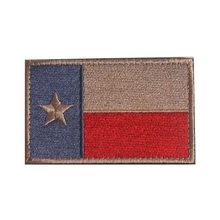 Embroidery Patch State Of Texas Lonestar Flag Morale Patch Tactical Emblem Badges Appliques Embroidered Patches For Clothing(China)
