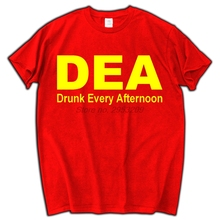 DEA DRUNK EVERY AFTERNOON FUNNY MEN'S T-SHIRT TEE DRINKING ALCOHOL COLLEGE PARTY MEN BRAND T SHIRT