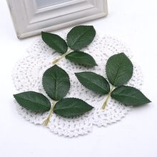 5pcs Silk Green Leaf Wedding Decoration DIY Artificial Flower Rose Bouquet Leaf Accessories Artificial Plant Craft Fake Flower(China)