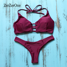 Bikinis 2017 New Sexy Women Swimsuit Brazilian Swimwear Bandage Bikini Set Halter Beach Bathing Suits Female Swim Wear Biquini