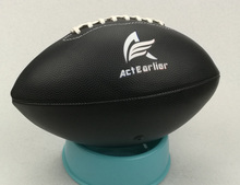 Rugby Sports Official Size 6 Black Color American Football Rugby Ball For Training Match Entertainment Toy