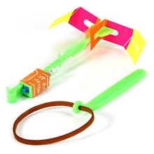 3Pcs Amazing LED Light Arrow Rocket Helicopter Flying Toy Party Fun Gift Sabre Laser Lightsaber Flyknit Rubber band toys(China)