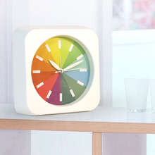 2017 Promotion Fashion Rainbow Alarm Clock Creative Ultra Quiet Simple Student Bedside Super Loud Alarm Clock