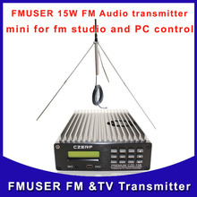 FMUSER CZE-15B  audio fm radio  transmitter  PC Control Wireless 1/4 wave outside antenna with  A SET Free Shipping