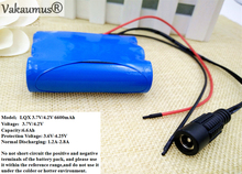 Vakaumus 3.7V Battery Pack 6600mAh 18650 Battery 6.6Ah Rechargeable Batteries For Belt Charger/Loudspeaker/Robot/Light