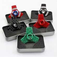 Buy Avengers Metal Alloy Fidget Spinner Ironman Spiderman Captain America Hand Finger Spiner Anti Stress ADHD EDC Hulk Superman for $4.32 in AliExpress store