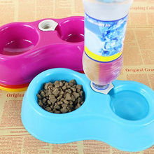 Pet Dog Cat Automatic Water Dispenser Food Dish Bowl Feeder Drinking Bowl Bottle(China)