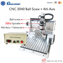 Ball screw 4 Axis USB Controller CNC3040 300w Air cooled Spindle Mini CNC milling machine 3D CNC machine 110v / 220v