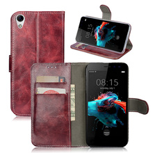Buy Leather case Doogee Homtom HT16 Phone bags housing Card Slot Doogee Homtom H T16 / Homtom16 Flip cover fundas Wallet for $6.08 in AliExpress store