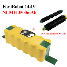 14.4V 3500mAh Battery Pack for iRobot Roomba 500 Series NI-MH Sweeper batteries for 510 530 535 540 780 +1 Set Bristle Brush