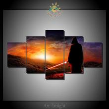 HD Printed Star Wars 5 Pieces/set  Paintings Picture Paiting Canvas Paints Home Decor Printed Painting Wall Art Picture