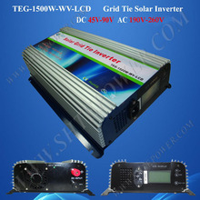 1500W inverter pure sine wave, grid tie solar power inverter 48V 220V with LCD Display(China)